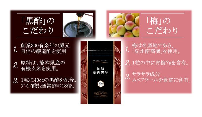 「黒酢」のこだわり 「梅」のこだわり
